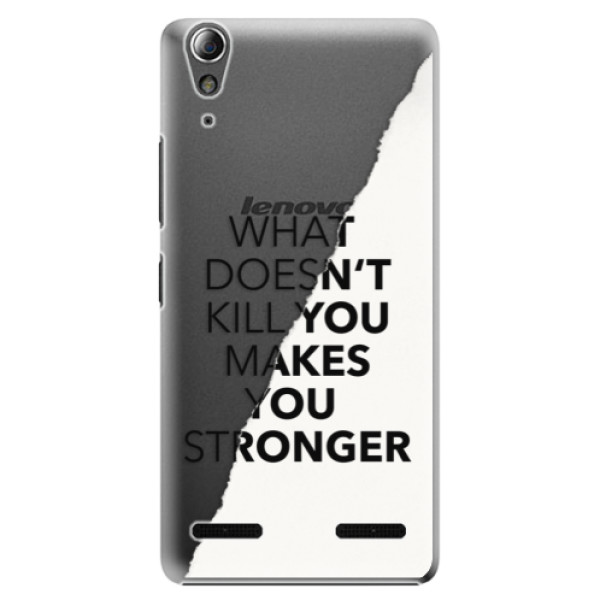 Plastové pouzdro iSaprio Makes You Stronger na mobil Lenovo A6000 / K3 (Plastový obal, kryt, pouzdro iSaprio Makes You Stronger na mobilní telefon Lenovo A6000 / K3)