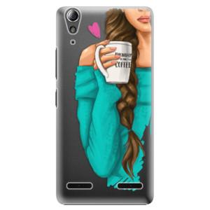 Plastové pouzdro iSaprio My Coffe and Brunette Girl na mobil Lenovo A6000 / K3