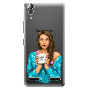 Plastové pouzdro iSaprio Coffe Now Brunette na mobil Lenovo A6000 / K3