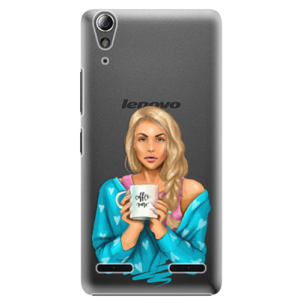 Plastové pouzdro iSaprio Coffe Now Blond na mobil Lenovo A6000 / K3 (Plastový obal, kryt, pouzdro iSaprio Coffe Now Blond na mobilní telefon Lenovo A6000 / K3)