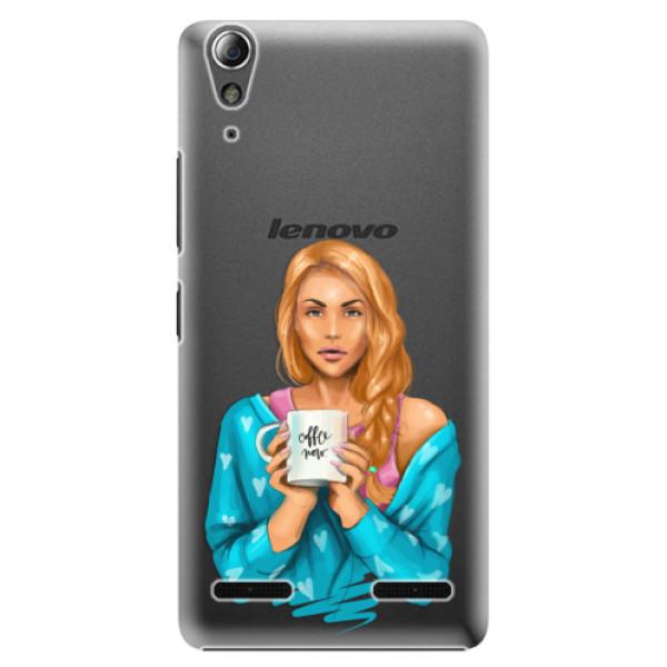 Plastové pouzdro iSaprio Coffe Now Redhead na mobil Lenovo A6000 / K3 (Plastový obal, kryt, pouzdro iSaprio Coffe Now Redhead na mobilní telefon Lenovo A6000 / K3)