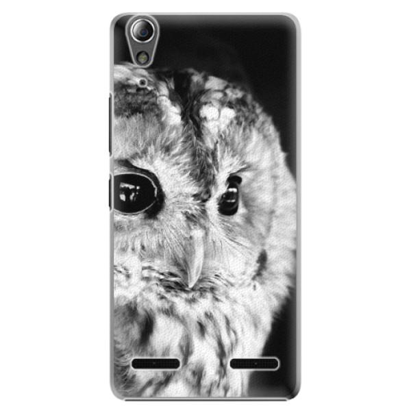 Plastové pouzdro iSaprio BW Owl na mobil Lenovo A6000 / K3 (Plastový obal, kryt, pouzdro iSaprio BW Owl na mobilní telefon Lenovo A6000 / K3)