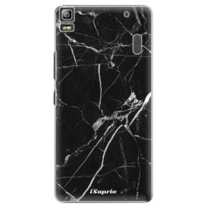 Plastové pouzdro iSaprio Black Marble 18 na mobil Lenovo A7000