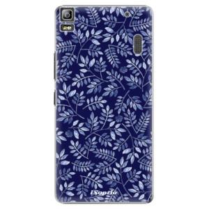 Plastové pouzdro iSaprio Blue Leaves 05 na mobil Lenovo A7000