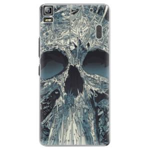 Plastové pouzdro iSaprio Abstract Skull na mobil Lenovo A7000