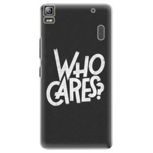 Plastové pouzdro iSaprio Who Cares na mobil Lenovo A7000