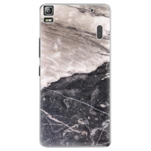 Plastové pouzdro iSaprio BW Marble na mobil Lenovo A7000