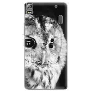 Plastové pouzdro iSaprio BW Owl na mobil Lenovo A7000