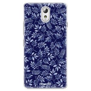 Plastové pouzdro iSaprio Blue Leaves 05 na mobil Lenovo P1m