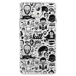 Plastové pouzdro iSaprio Comics 01 black na mobil Lenovo P1m
