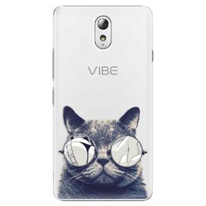 Plastové pouzdro iSaprio Crazy Cat 01 na mobil Lenovo P1m