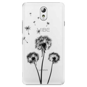 Plastové pouzdro iSaprio Three Dandelions black na mobil Lenovo P1m