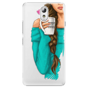Plastové pouzdro iSaprio My Coffe and Brunette Girl na mobil Lenovo P1m