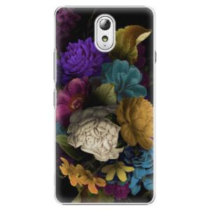 Plastové pouzdro iSaprio Dark Flowers na mobil Lenovo P1m