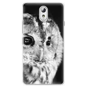 Plastové pouzdro iSaprio BW Owl na mobil Lenovo P1m