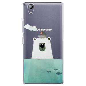 Plastové pouzdro iSaprio Bear With Boat na mobil Lenovo P70