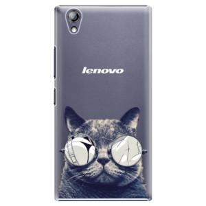 Plastové pouzdro iSaprio Crazy Cat 01 na mobil Lenovo P70