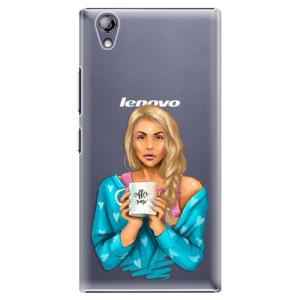 Plastové pouzdro iSaprio Coffe Now Blond na mobil Lenovo P70