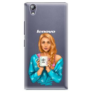 Plastové pouzdro iSaprio Coffe Now Redhead na mobil Lenovo P70