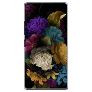 Plastové pouzdro iSaprio Dark Flowers na mobil Lenovo P70