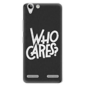 Plastové pouzdro iSaprio Who Cares na mobil Lenovo Vibe K5