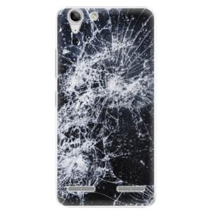Plastové pouzdro iSaprio Cracked na mobil Lenovo Vibe K5