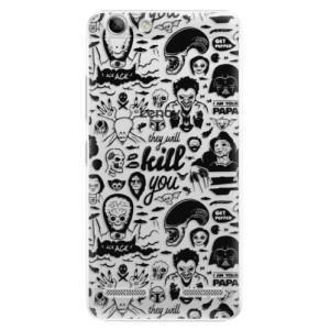 Plastové pouzdro iSaprio Comics 01 black na mobil Lenovo Vibe K5