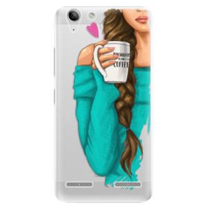 Plastové pouzdro iSaprio My Coffe and Brunette Girl na mobil Lenovo Vibe K5