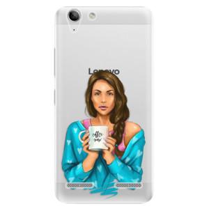 Plastové pouzdro iSaprio Coffe Now Brunette na mobil Lenovo Vibe K5