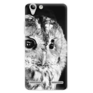 Plastové pouzdro iSaprio BW Owl na mobil Lenovo Vibe K5