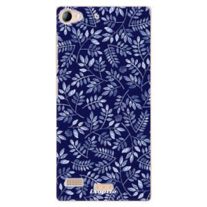 Plastové pouzdro iSaprio Blue Leaves 05 na mobil Lenovo Vibe X2