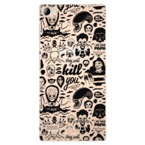 Plastové pouzdro iSaprio Comics 01 black na mobil Lenovo Vibe X2