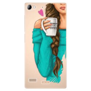 Plastové pouzdro iSaprio My Coffe and Brunette Girl na mobil Lenovo Vibe X2