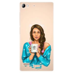Plastové pouzdro iSaprio Coffe Now Brunette na mobil Lenovo Vibe X2