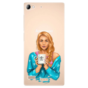 Plastové pouzdro iSaprio Coffe Now Redhead na mobil Lenovo Vibe X2