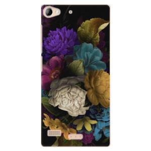Plastové pouzdro iSaprio Dark Flowers na mobil Lenovo Vibe X2