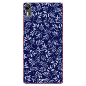 Plastové pouzdro iSaprio Blue Leaves 05 na mobil Lenovo Vibe Shot