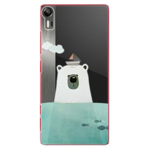 Plastové pouzdro iSaprio Bear With Boat na mobil Lenovo Vibe Shot