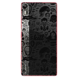 Plastové pouzdro iSaprio Comics 01 black na mobil Lenovo Vibe Shot