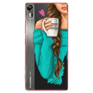 Plastové pouzdro iSaprio My Coffe and Brunette Girl na mobil Lenovo Vibe Shot