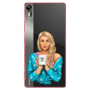 Plastové pouzdro iSaprio Coffe Now Blond na mobil Lenovo Vibe Shot