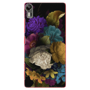 Plastové pouzdro iSaprio Dark Flowers na mobil Lenovo Vibe Shot