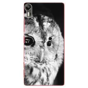 Plastové pouzdro iSaprio BW Owl na mobil Lenovo Vibe Shot
