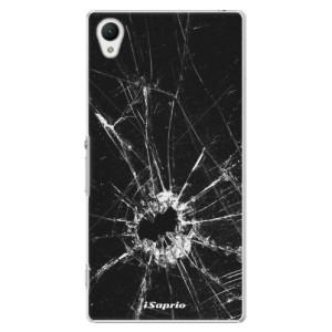 Plastové pouzdro iSaprio Broken Glass 10 na mobil Sony Xperia Z1