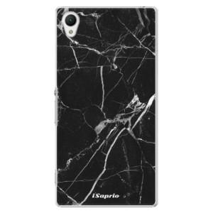 Plastové pouzdro iSaprio Black Marble 18 na mobil Sony Xperia Z1