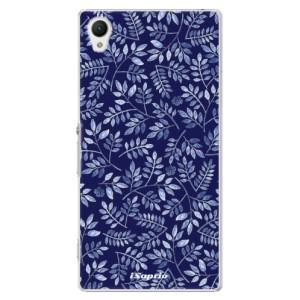 Plastové pouzdro iSaprio Blue Leaves 05 na mobil Sony Xperia Z1