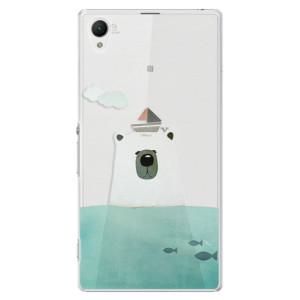 Plastové pouzdro iSaprio Bear With Boat na mobil Sony Xperia Z1
