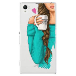 Plastové pouzdro iSaprio My Coffe and Brunette Girl na mobil Sony Xperia Z1
