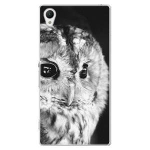 Plastové pouzdro iSaprio BW Owl na mobil Sony Xperia Z1