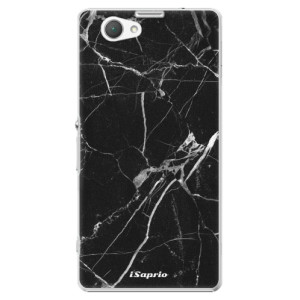 Plastové pouzdro iSaprio Black Marble 18 na mobil Sony Xperia Z1 Compact